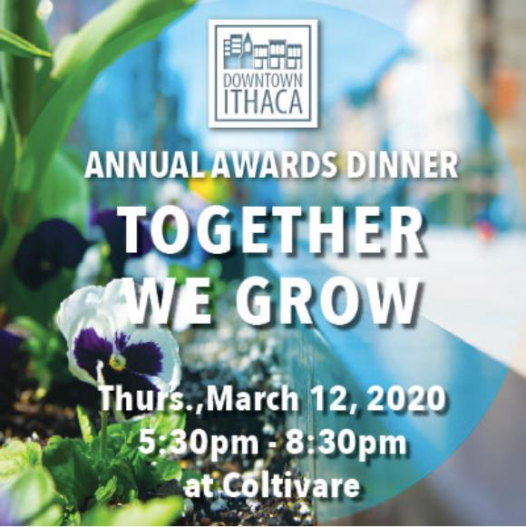 Downtown Ithaca's Annual Dinner and Awards Ceremony