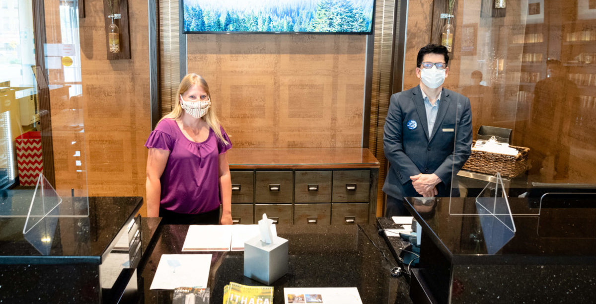 Front desk workers at Ithaca Marriott
