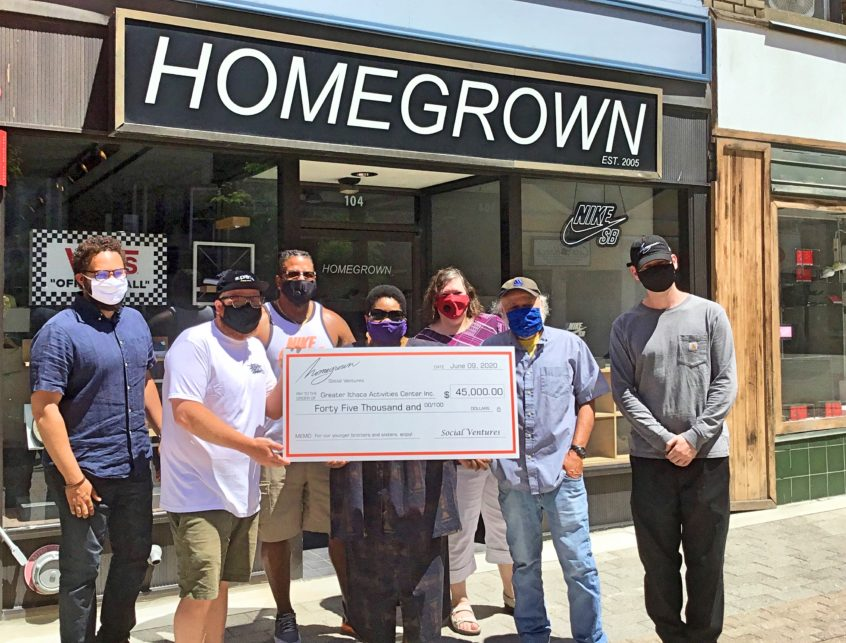 Check presentation at Homegrown Skateshop on the Ithaca Commons
