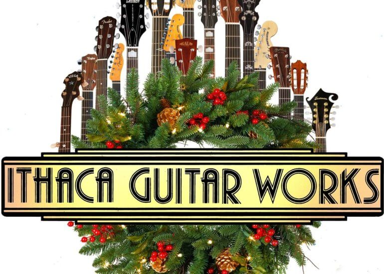 Ithaca Guitar Works Holiday Logo