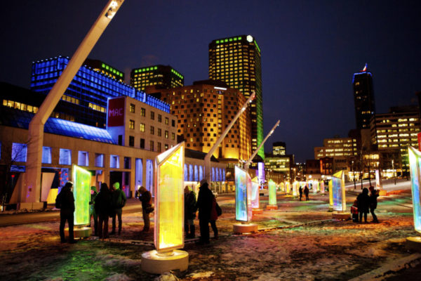 Prismatica light installation lights up cityscape