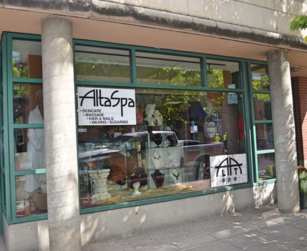 Front window of AltaSpa