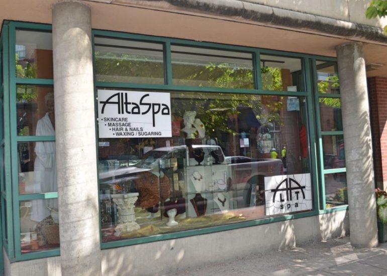 Front window of AltaSpa