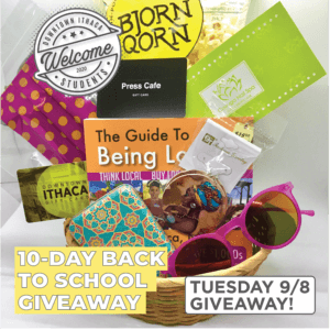Day 1 Basket for the 10-Day Back to School Giveaway Contest